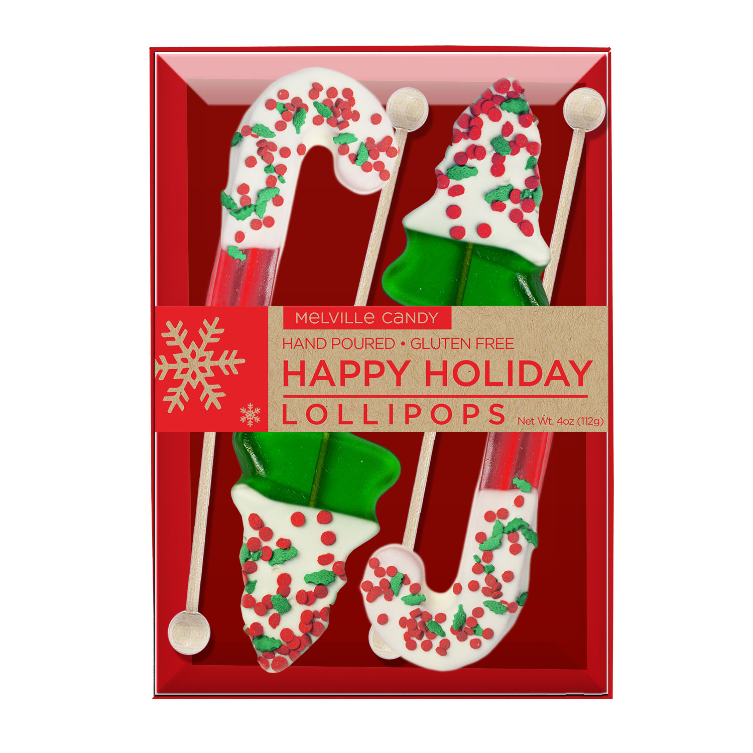 Chocolate dipped holiday confetti lollipops by melville candy