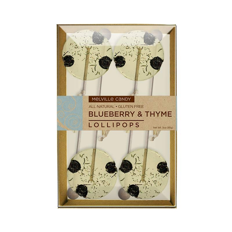 Blueberry thyme natural lollipops gift sets