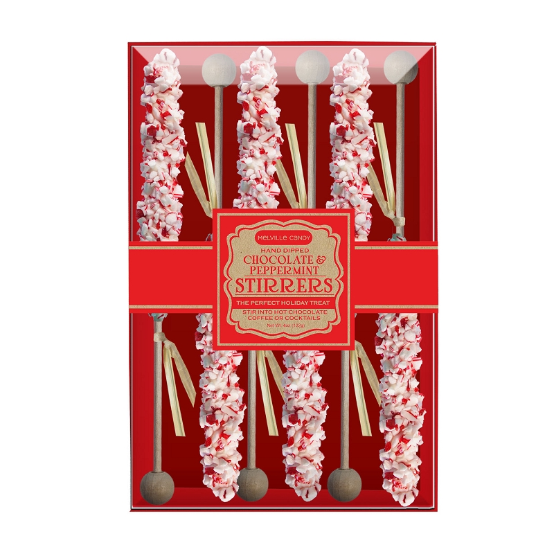 White chocolate peppermint stirrers by melville candy