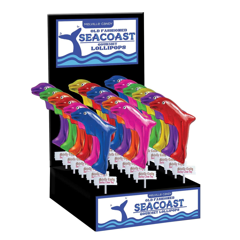 ... Lollipops > Seacoast Lollipops > Dolphin Lollipops: 24 Pack Display