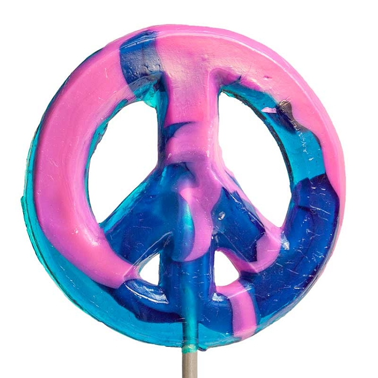 Giant Peace Sign Lollipops Hard Candy