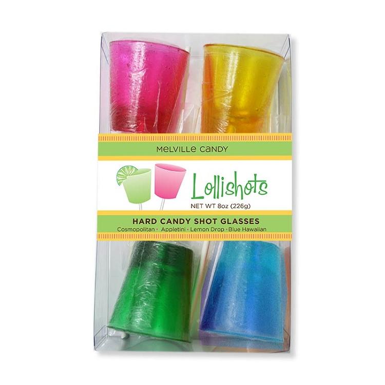 Lollishots hard candy shot glasses by melville
