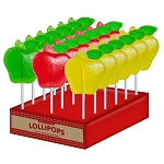 Fancy Apple Lollipops: 24 Pack Display